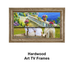 Hardwood Art TV Frames