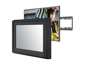 50 Mexican Black TV Mirror Frame with Samsung 50 inch Smart 4K TV Frame Your TV
