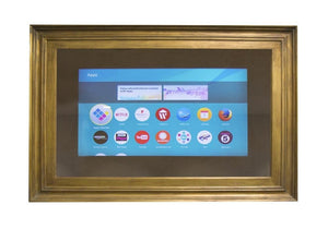 Gold Leaf Monaco Frame Mirror TV with Samsung 43 inch 4K Smart TV Frame Your TV