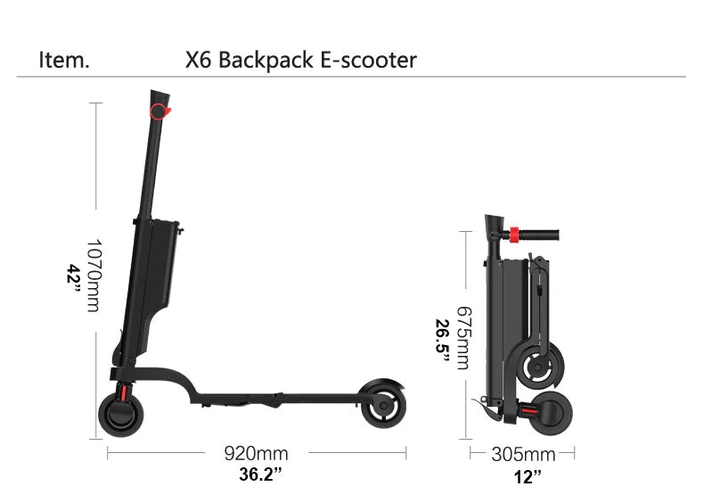 X6 Foldable Electric Scooter 014