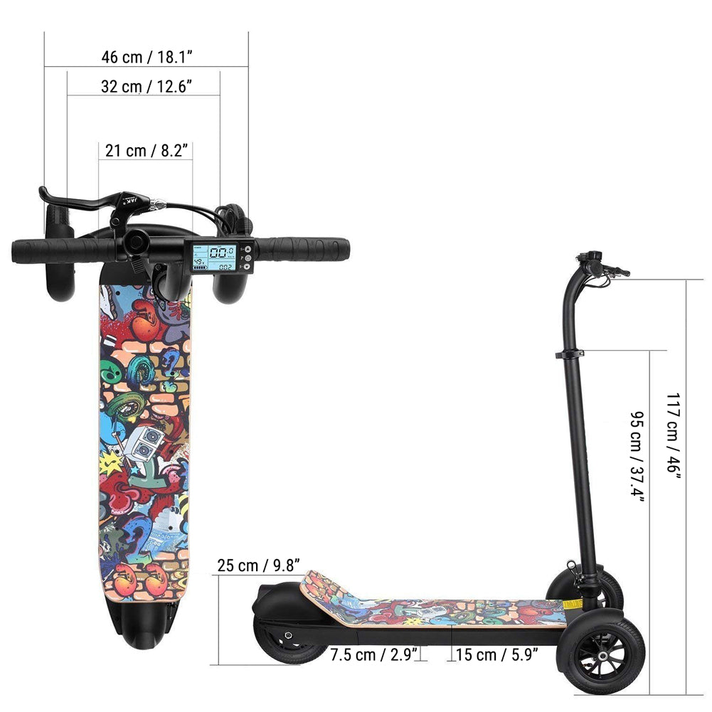 three-wheel-electric-scooter-dimension