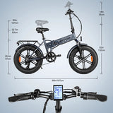 "EP2 Pro 48V 750W 20"" Fat Tire Folding Electric Bike"