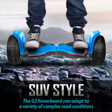 G2 Warrior 8.5 Inch All Terrain Hoverboard Blue 002