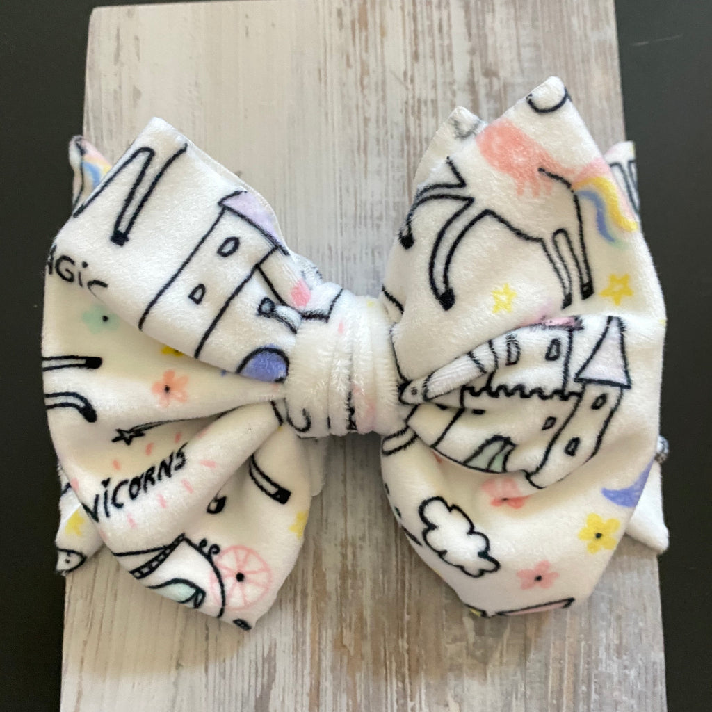 Unicorns, Lush Plush, Headwrap, Bow Headwrap, Girls Accessories