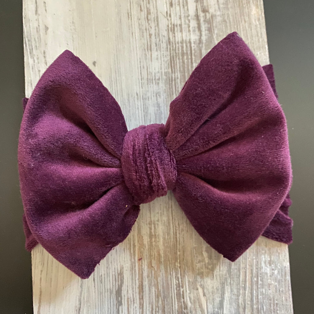 Purple, Lush Plush, Headwrap, Bow Headwrap, Girls Accessories