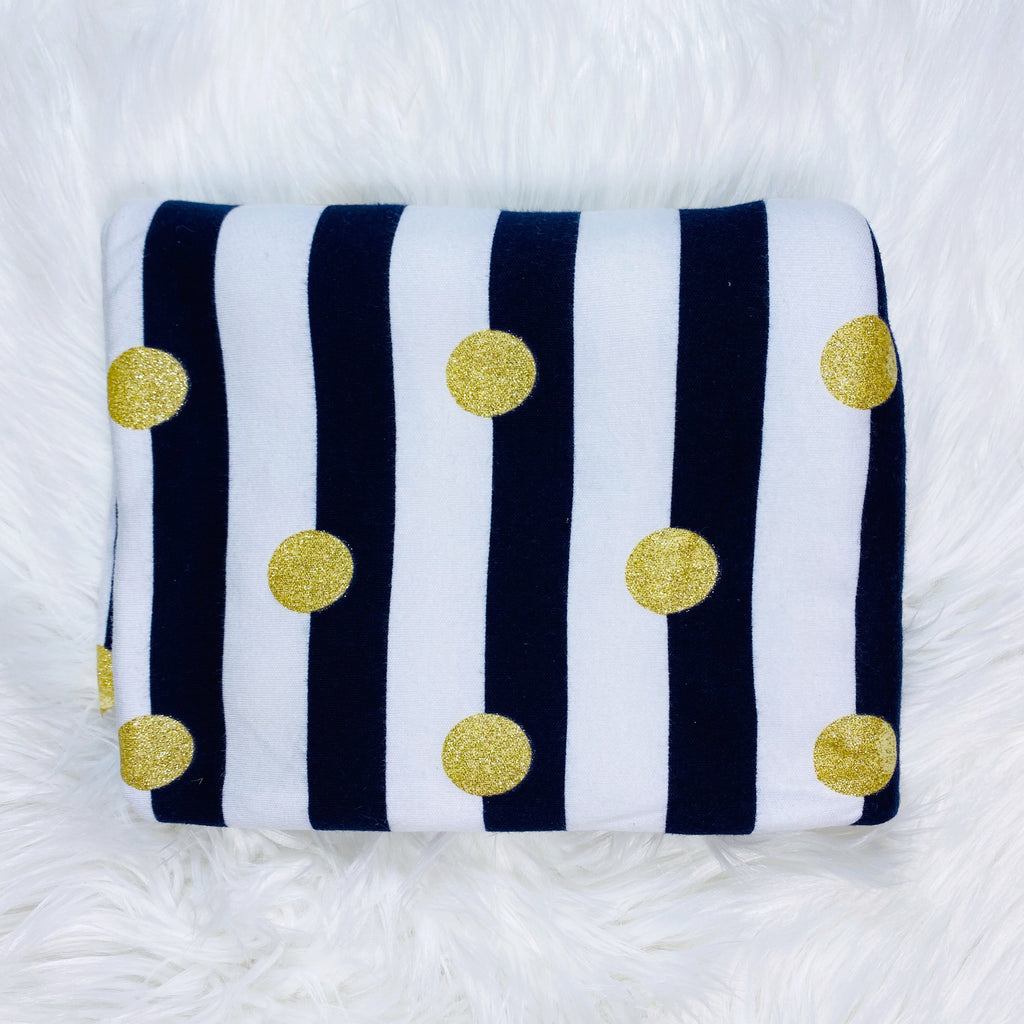 Navy Stripes & Polka Dot Bummies, Made To Order