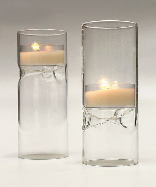 Blown Glass Miniature Tealight Luminaries (Pack of 4)