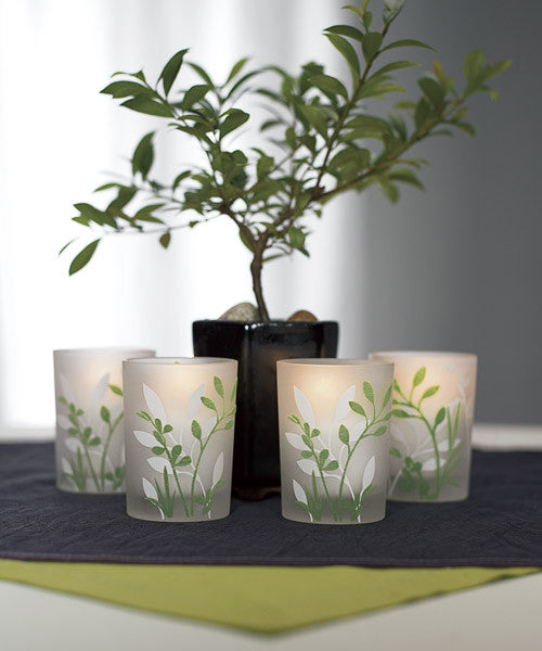 Botanical Garden Votive Candle Holders (Pack of 4)