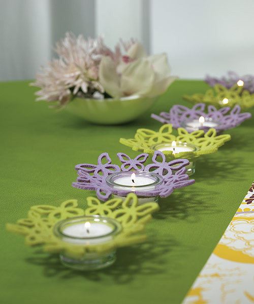 Felt Butterfly Ring Candle Holders (Pack of 4)