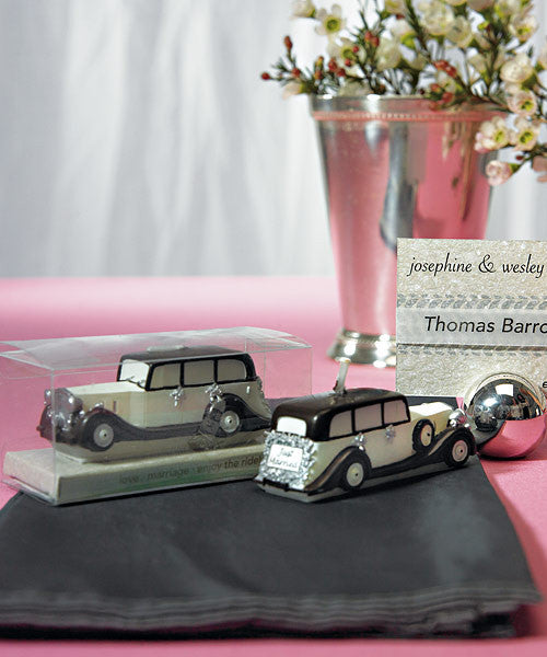 An Elegant Ride - Wedding Car Mini Candle (Pack of 6)
