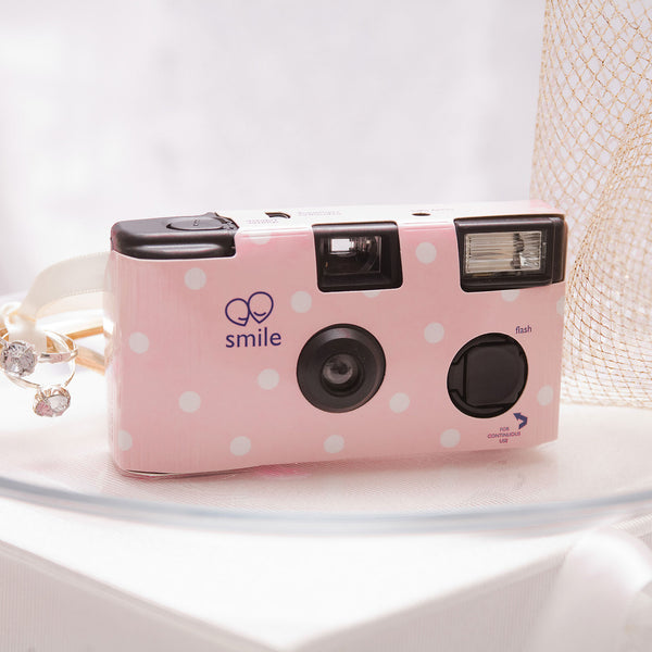 50 x Single Use Camera – Polka Dot Design