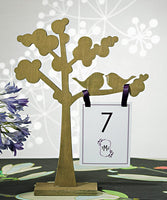 "20 x  Wooden Die-cut Trees with ""Love Birds"" Silhouette"