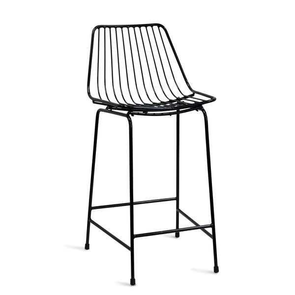 miko bar stool - black