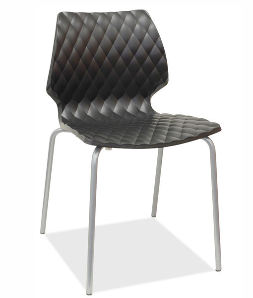black stacking chair - uni