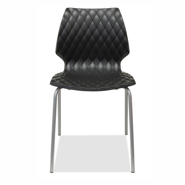 stackable chairs - black - uni