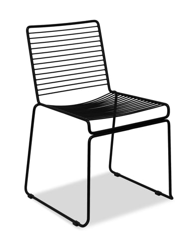 wire chair - voltage -black