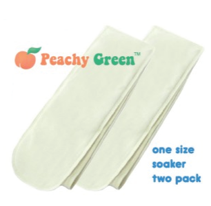 Peachy Green One-Size Snap-in Soaker