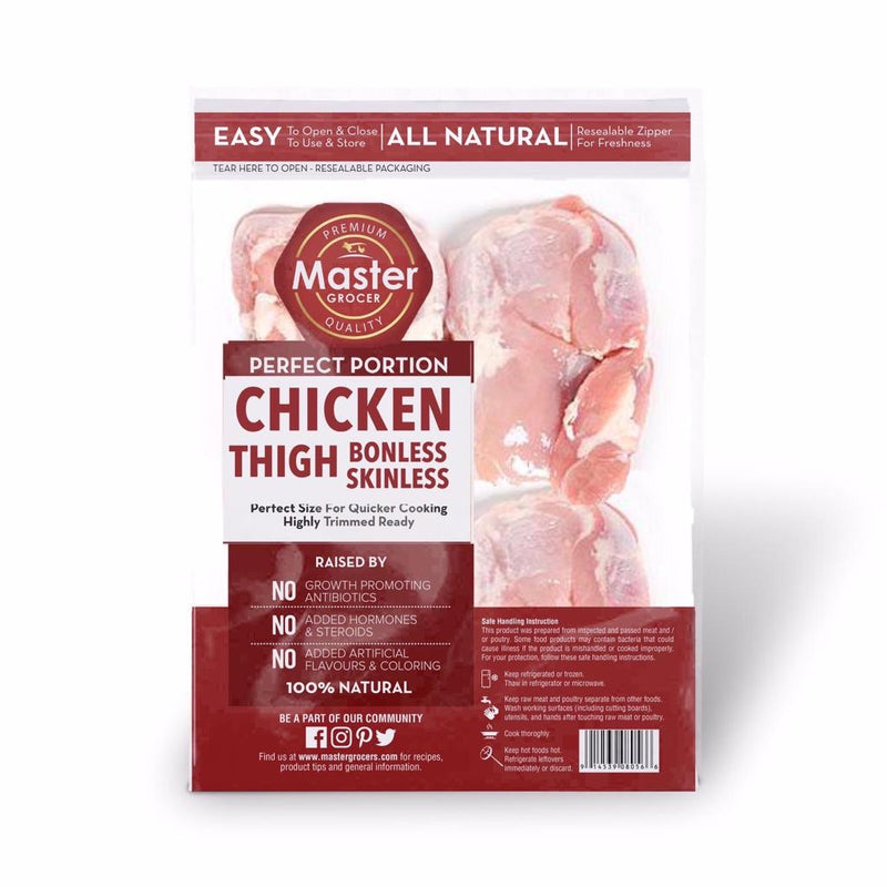 Chicken Thigh Skinless Pre-Portion 3pcs -  Frozen