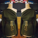 Army Green Tunic with Belt