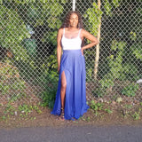 Split Me Royal Blue Skirt