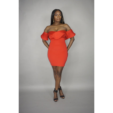 Orange Flame Dress