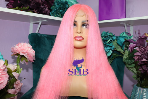 Hot Pink Pre-Colored Full Lace Wigs - Shari's Hair Boutique