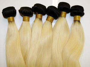 Blonde 1B/613 Straight Hair Extensions - Shari's Hair Boutique