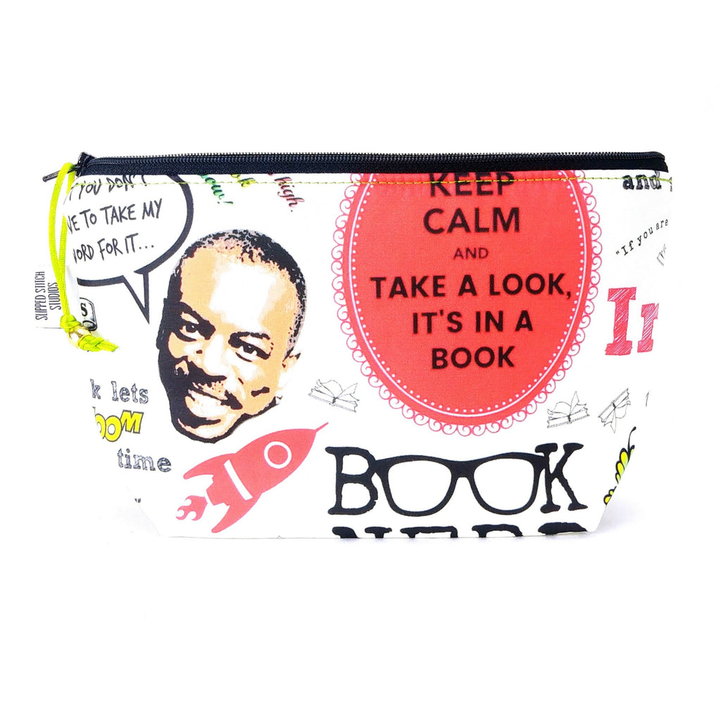 Zipper Notion Pouch - EXTRAS - Reading Rainbow:Zipper Notion Pouch,Slipped Stitch Studios:Slipped Stitch Studios