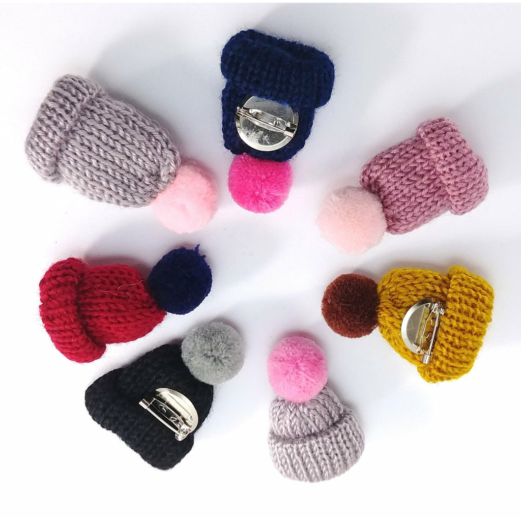 Pin - Knitted Beanie (Pin-Back):Pins,Slipped Stitch Studios:Slipped Stitch Studios