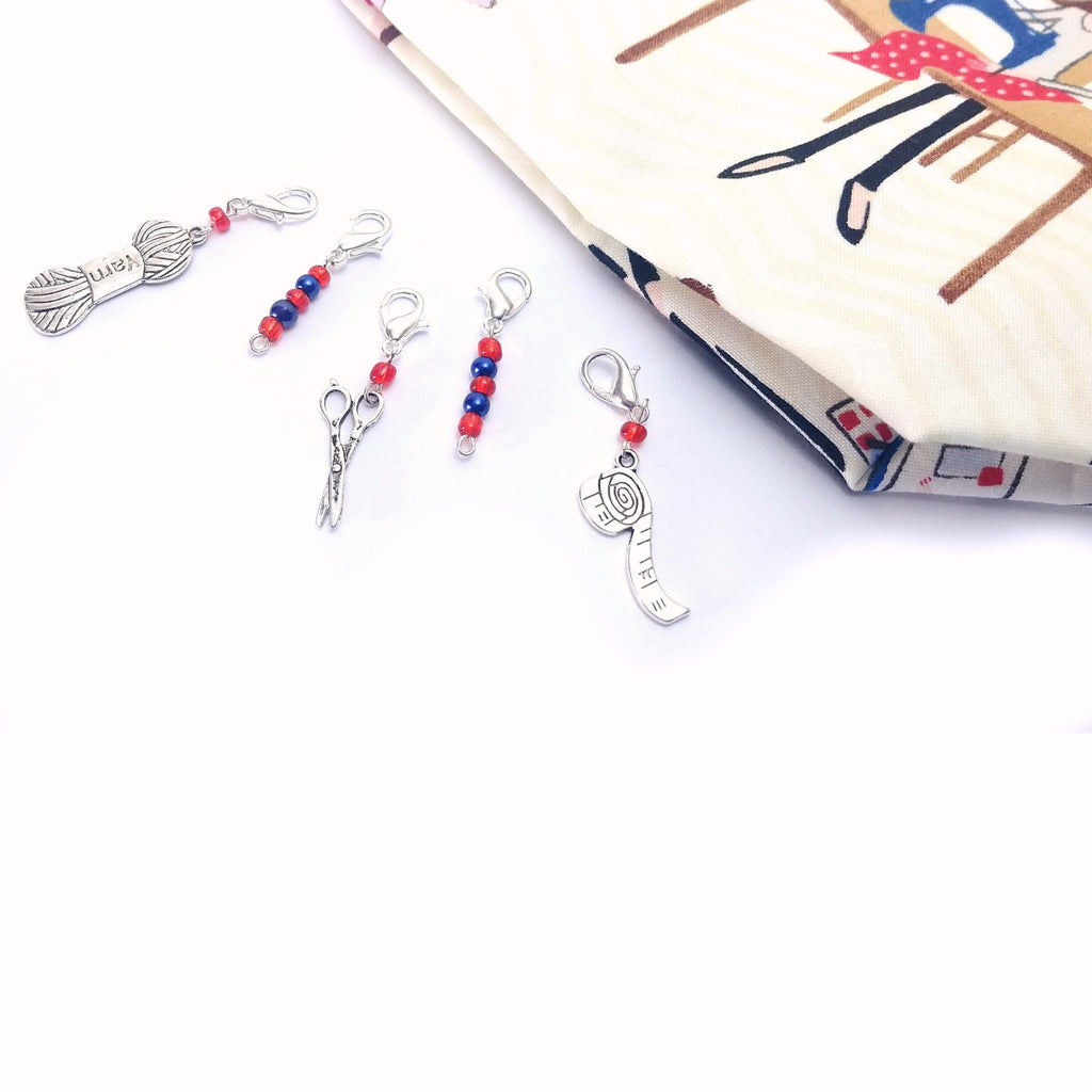 Stitch Markers - Handmade in the USA:Stitch Markers,Slipped Stitch Studios:Slipped Stitch Studios