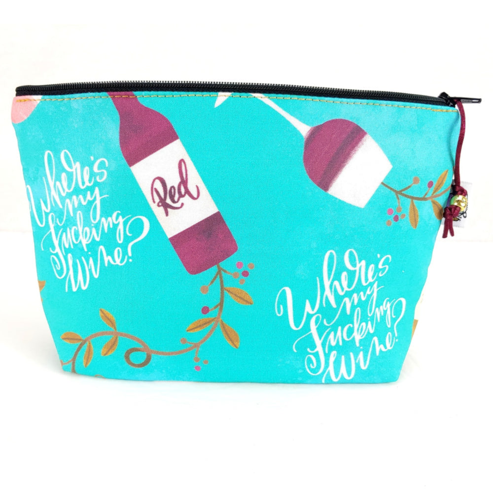 Where's My F*ing Wine? </br> Zipper Notion Pouch