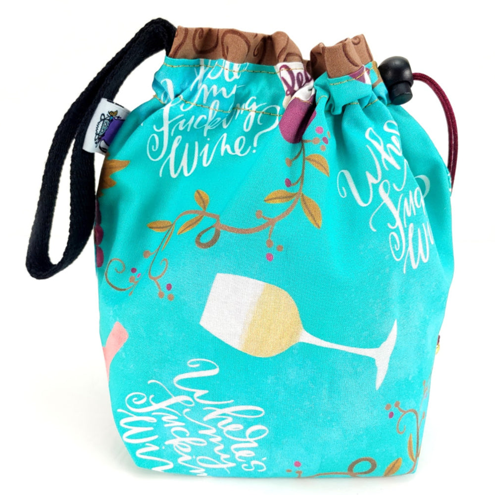 Where's My F*ing Wine? </br> Small Project Bag