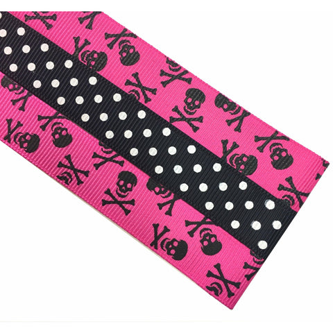 Magnetic Pattern & Chart Keeper - Skull n Cross Bones Hot Pink Toss