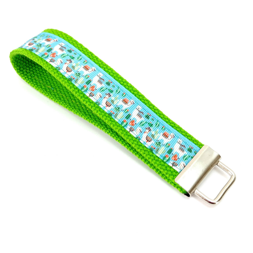 Make Your Own Travel Kit - Lanyard - Llamas on Green:Travel Kit Single,Slipped Stitch Studios:Slipped Stitch Studios