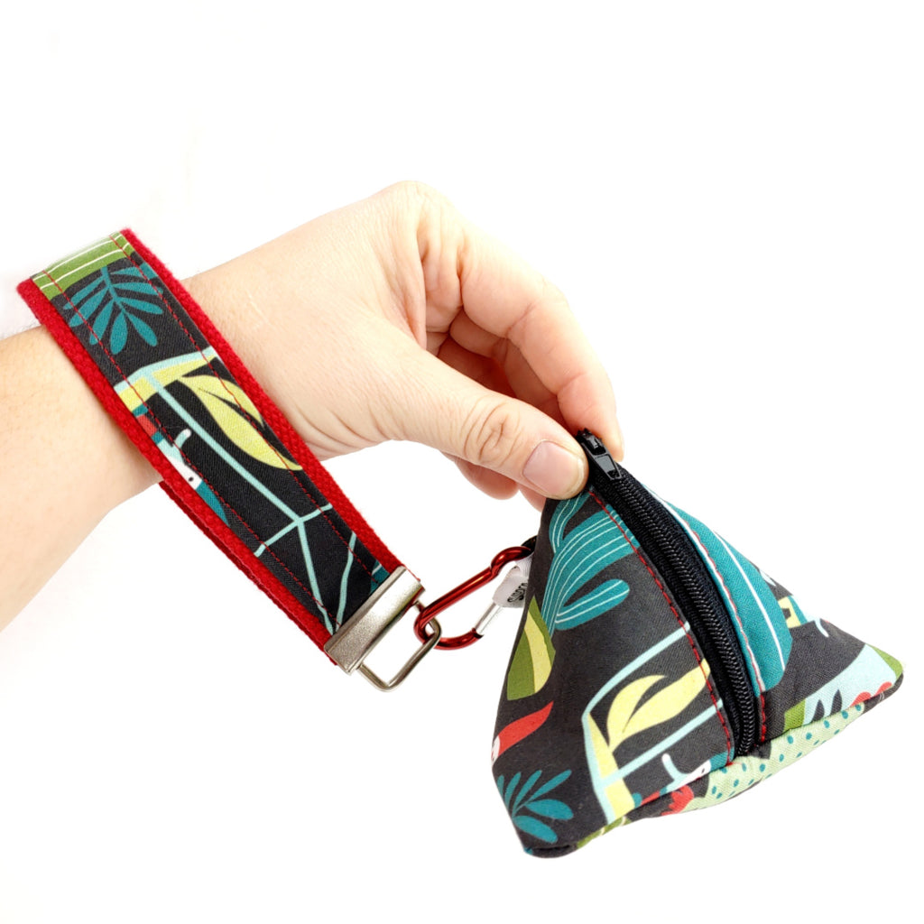 Batman </br> Triangle Zipper Notion Pouch:Triangle Zipper Notion Pouch,Slipped Stitch Studios:Slipped Stitch Studios