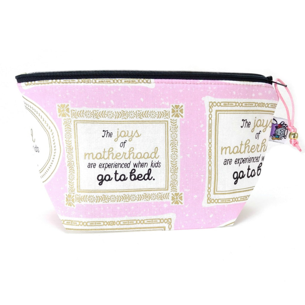 Zipper Notion Pouch - The Joys of Motherhood:Zipper Notion Pouch,Slipped Stitch Studios:Slipped Stitch Studios