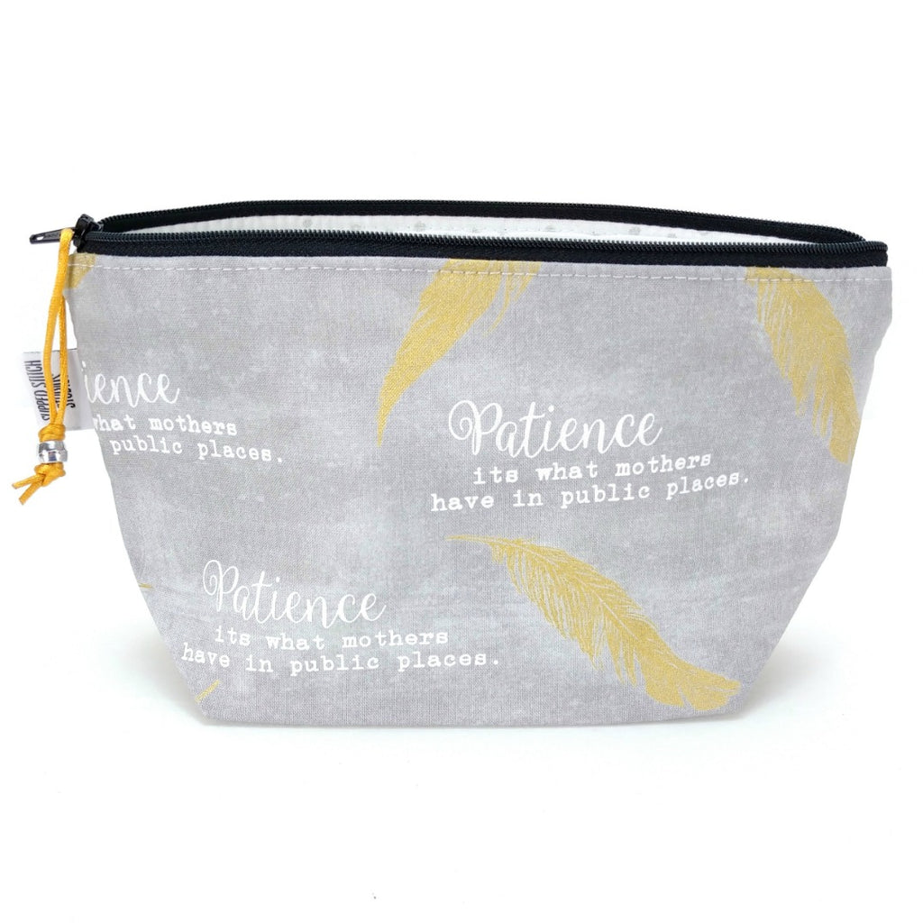 Zipper Notion Pouch - Patience:Zipper Notion Pouch,Slipped Stitch Studios:Slipped Stitch Studios