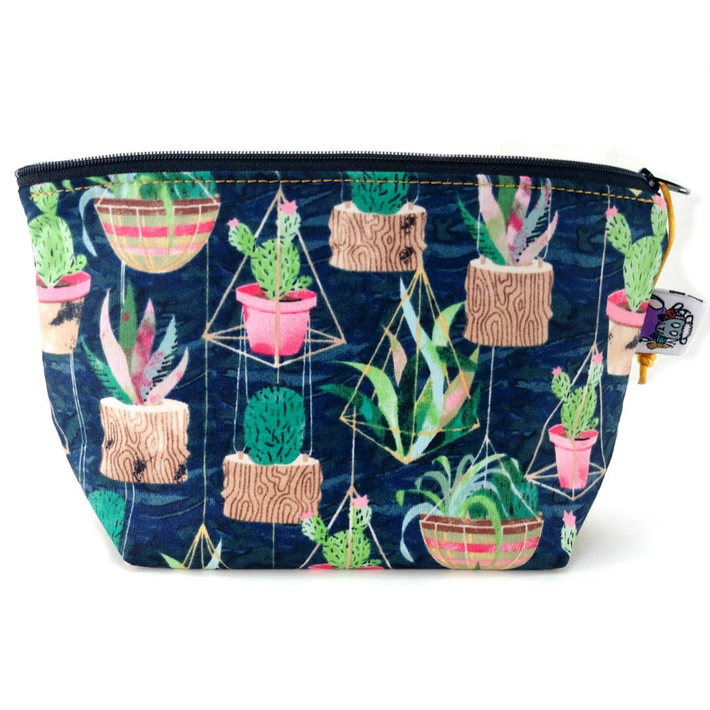 Zipper Notion Pouch - Geometric Garden:Zipper Notion Pouch,Slipped Stitch Studios:Slipped Stitch Studios