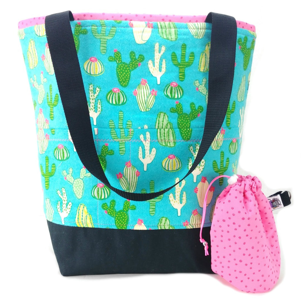 Studio Plus Tote & Tot - Fuzzy Cactus (Flannel):Studio Plus Tote,Slipped Stitch Studios:Slipped Stitch Studios
