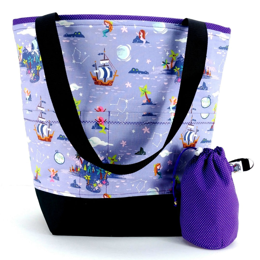 Studio Plus Tote & Tot - Peter Pan Neverland Island:Studio Plus Tote,Slipped Stitch Studios:Slipped Stitch Studios
