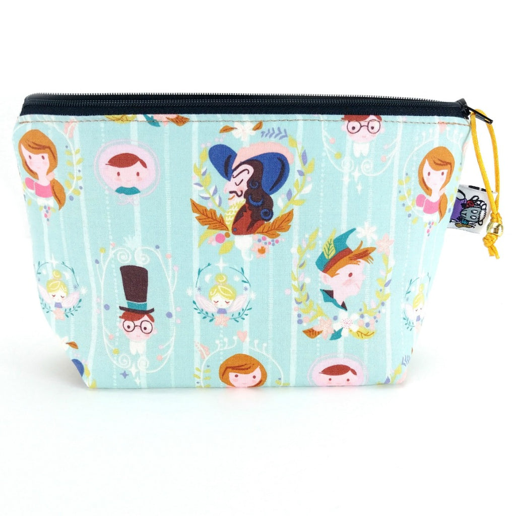 Zipper Notion Pouch - Peter Pan Portraits:Zipper Notion Pouch,Slipped Stitch Studios:Slipped Stitch Studios