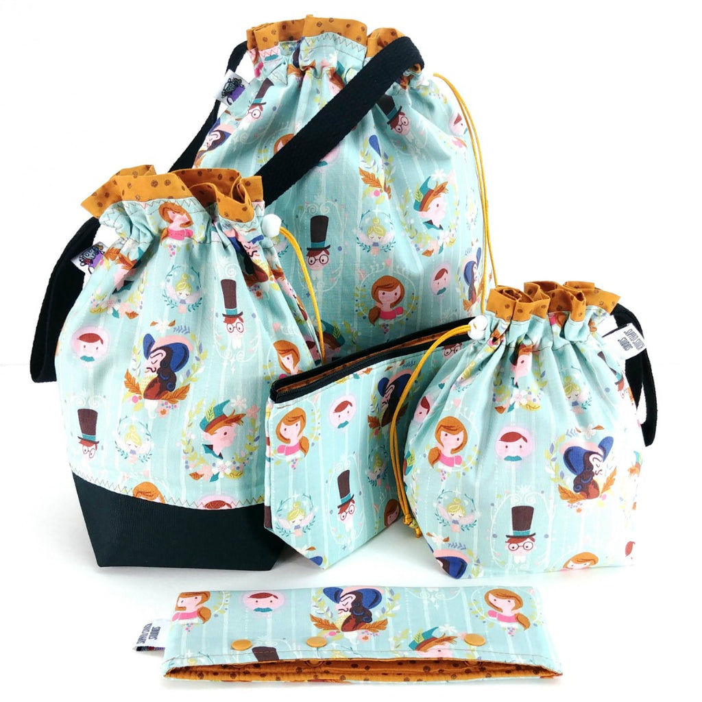 Studio Plus Tote & Tot - Peter Pan Portraits:Studio Plus Tote,Slipped Stitch Studios:Slipped Stitch Studios