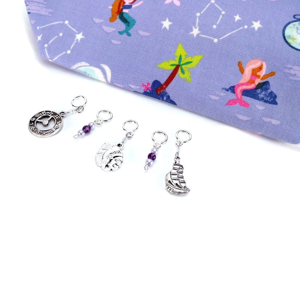 Stitch Markers - Peter Pan:Stitch Markers,Slipped Stitch Studios:Slipped Stitch Studios