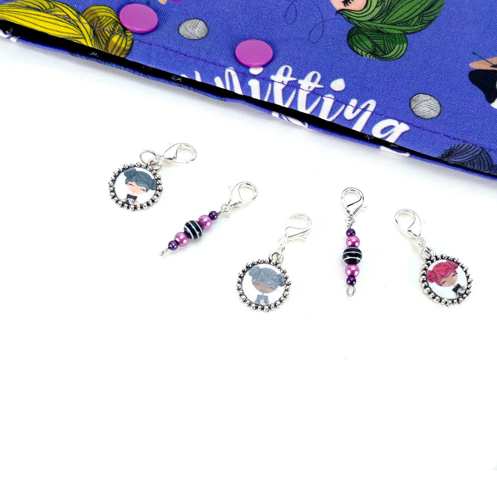 Stitch Markers - EXTRAS - Knitting Girls:Stitch Markers,Slipped Stitch Studios:Slipped Stitch Studios