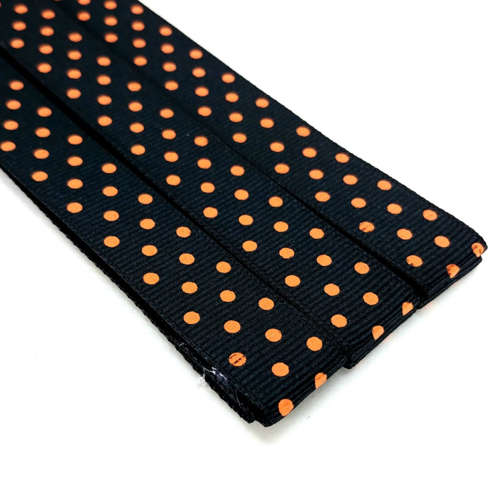 Magnetic Pattern & Chart Keeper - Polka Dots (Black With Orange Dots):miPattern Magnets,Slipped Stitch Studios:Slipped Stitch Studios