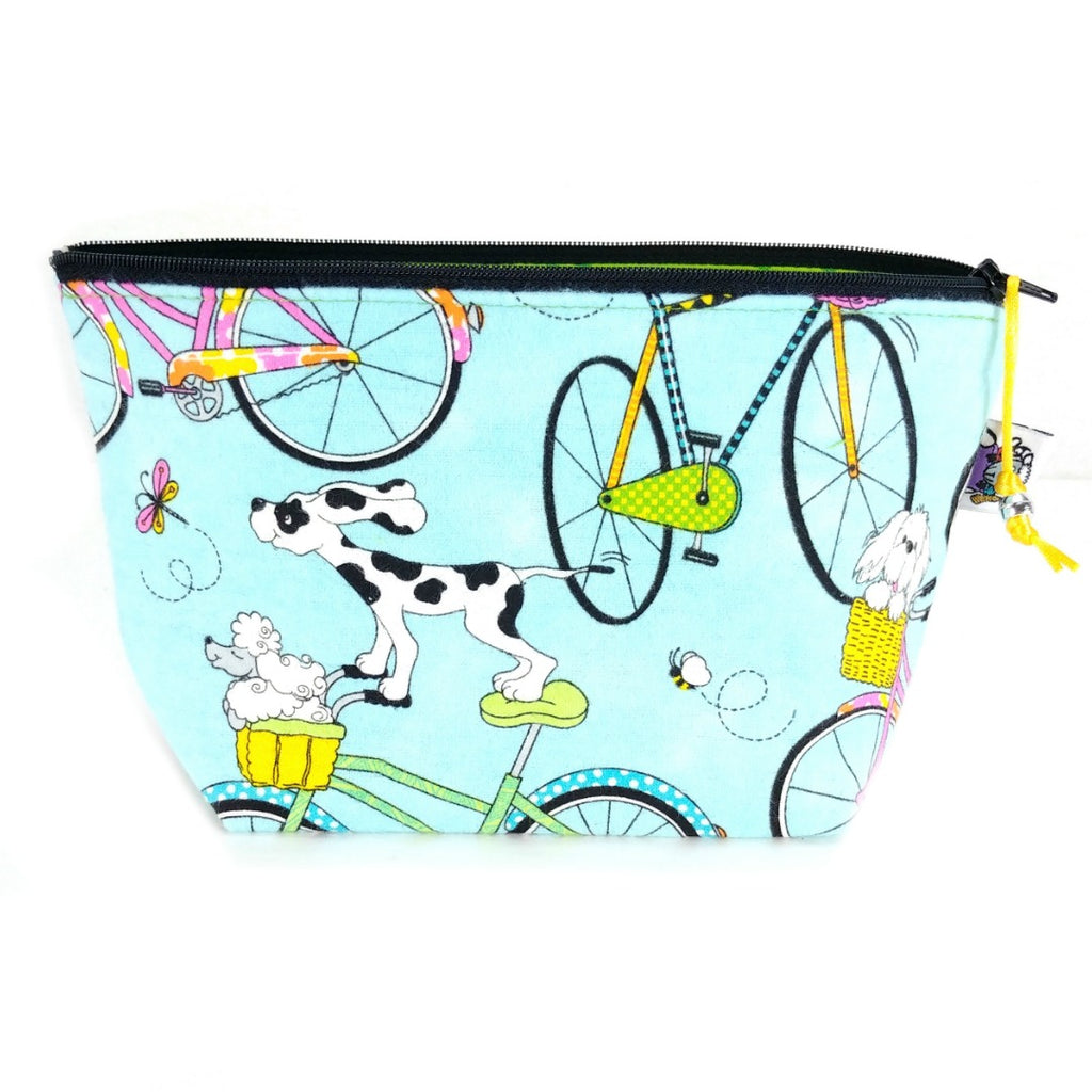 Zipper Notion Pouch - Summer Bike Ride (Flannel):Zipper Notion Pouch,Slipped Stitch Studios:Slipped Stitch Studios
