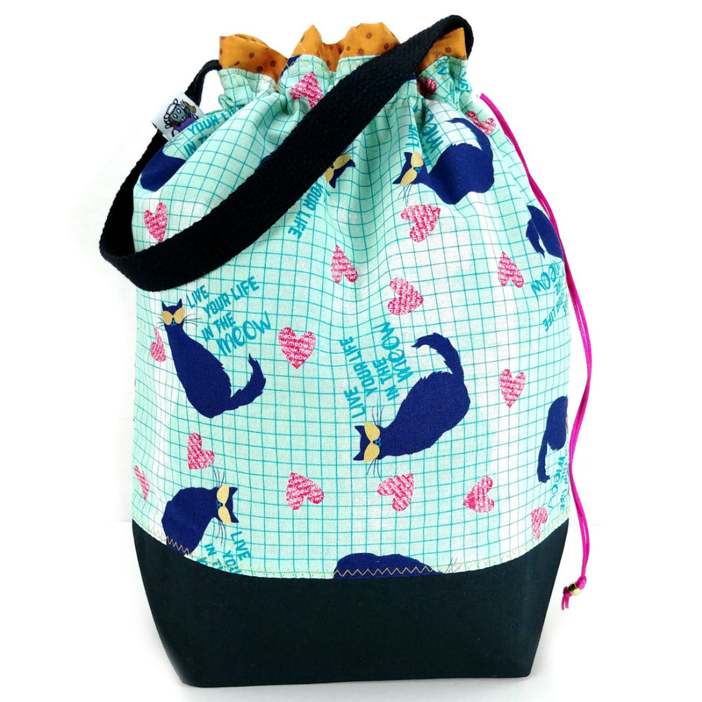 Double-Project Plus - Live Your Life in the Meow:Double Project Tote,Slipped Stitch Studios:Slipped Stitch Studios