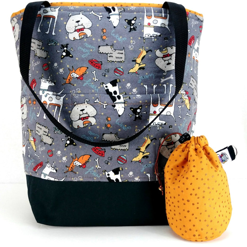 Studio Plus Tote & Tot - Neighborhood Pups (Flannel):Studio Plus Tote,Slipped Stitch Studios:Slipped Stitch Studios
