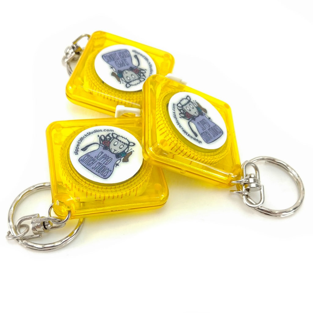 Measuring Tape Key Chain:Accessories,Slipped Stitch Studios:Slipped Stitch Studios