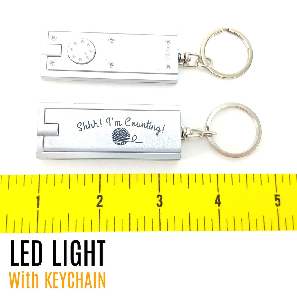 Shhh! I'm Counting - LED Flashlight Keychain:Accessories,Slipped Stitch Studios:Slipped Stitch Studios